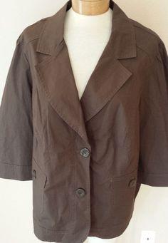Venezia Brown Blazer Jacket 3/4 Sleeves Womens Sz 22/24 #Venezia #Blazer