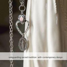 Religious Catholic Necklace Religious by FifteenMagpieLane on Etsy