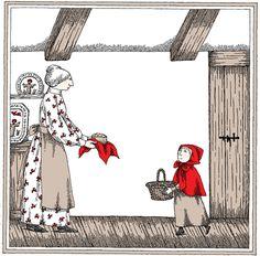 Edward Gorey illustrates Little Red Riding Hood