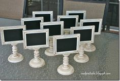 Fabulous idea for weddings or parties to number tables - I could totally make these!
