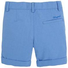 Bermuda de lino Azules