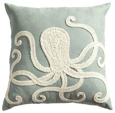 Pier 1 octopus pillow on sale for $28 (as of July 24). Featured on CC: http://www.completely-coastal.com/2015/02/octopus-decor.html