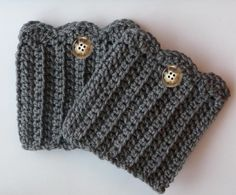 Crochet Boot Cuffs Knit Boot Topper Leg Warmer Boot Socks with Buttons Available…