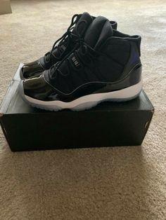 e80b4c72eb3 Jordan Retro 11 Black with blue sole size 6... Classics #fashion #