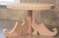 DIY witch shoes cake stand idea for cake stand nit shoes bur scroll support.
