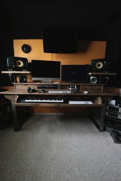 Reclaimed Composer / Studio Desk for Audio / Video / by Monkwood