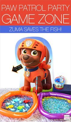 Paw Patrol Party Games! DIY Zumba Saves the Fish Party Game! | Paw Patrol Party Ideas Your Kids Will LOVE! | http://soiree-eventdesign.com
