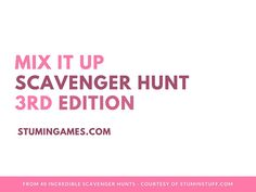Check out our Mix It Up Scavenger Hunt #3! This is great to play anytime with your group. #youthministry #stumin #scavengerhunt