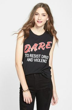 Umm awesome! Recycled Karma 'D.A.R.E.' Muscle Tank (Juniors) available at #Nordstrom