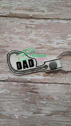 Fishing Hook Dad Sports Dad Snap Tab Key Fob by LittleBeanStitches