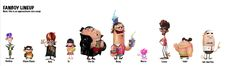 Approximate size comparison for Fanboy and Chum Chum characters.