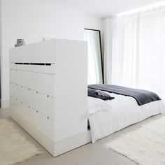 Love this bed and how this looks  make the cabinet higher so i have a mini walk-in closet. yipee!