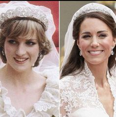 Diana, Princess of Wales and Catherine, Duchess of Cambridge were married almost 30 years apart to the day. Diana on July 1981 and Kate on April Royal Princess, Princess Diana Family, Prince And Princess, Princess Charlotte, Princess Tiara, Princesa Kate, Royal Brides, Royal Weddings, Estilo Kate Middleton
