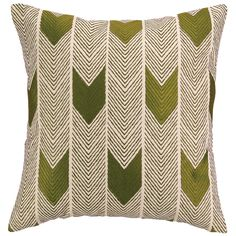 COCOCOZY Arrow Avocado Embroidered Pillow. #laylagrayce #green #pillow