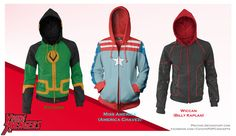 I want them! Young Avengers Hoodie Set (now with Wiccan!) by prathik on DeviantArt