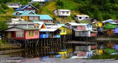 Go to Chiloe Archipelago and explore the magical Chiloe Island Chile with its legends and mistery stories Ushuaia, Places Around The World, Around The Worlds, Hut House, Local Legends, Tourist Sites, Peru Travel, Back In The Day, The Good Place