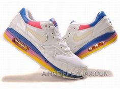 3324b4d1ac87 New Women s Nike Air Max 87 Shoes White Yellow Pink Blue