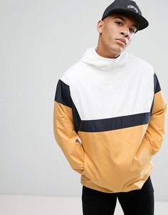 037721f2657 ASOS Overhead Windbreaker With Taping and Color Block - Multi Windbreaker  Jacket