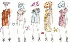 Fashion Illustrations for my collab with Lucy's Lounge #illustration #art #doodle #fashionillustration #hazeface