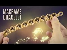 Wave and Triangle Bracelet (Teaser) Macrame School - YouTube