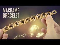 Wave and Triangle Bracelet (Teaser) Macrame School - YouTube