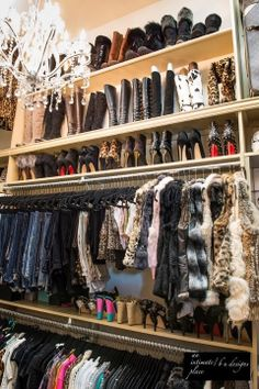 To have a closet like this will all the stuff along with it:)