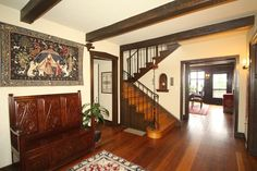 Nothing like a Tudor home and a beautiful #foyer!