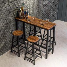 Bistro Interior, Cafe Interior, Brown Bar Stools, Modern Bar Stools, Pub Table And Chairs, Pub Tables, Coffee Shop Bar, Bar Height Table, Lounge Design