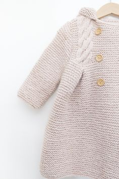 Nordic Coat - Lanas Rubí | Lanas Rubí Knitting For Kids, Baby Knitting Patterns, Knit Crochet, Turtle Neck, Coat, Sweaters, Clothes, Fashion, Long Coats