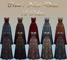 NotEgain's SIMS 4 CREATIONS Crow's Nest Dress