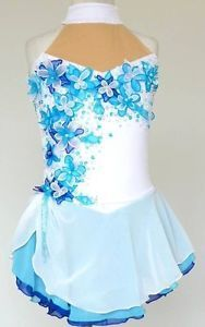 Ice/Roller Figure Skating Dress/Baton Twirling outfit/Tap leotard Made to Fit | eBay