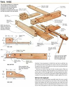 Heavy Duty Workbench Plans - Workshop Solutions Projects, Tips and Tricks - Woodwork, Woodworking, Woodworking Plans, Woodworking Projects Woodworking Bench Plans, Woodworking Furniture, Woodworking Projects, Workbench Vise, Workbench Plans, Home Projects, Workshop, How To Plan, Work Benches