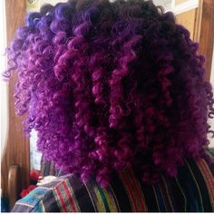 purple ombre natural hair - Google Search