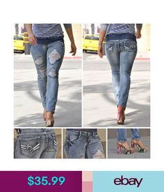 2c0d6356ad19 Kancan distressed girlfriend jeans NWT