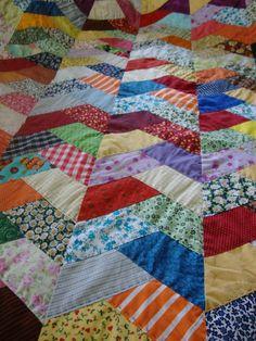 Studio da Berê.  Patchwork e ideias. Amische Quilts, Cute Quilts, Easy Quilts, Quilt Block Patterns, Pattern Blocks, Quilt Blocks, Crazy Quilting, Patch Quilt, Seminole Patchwork