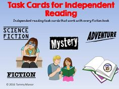 84 task cards that will work with any fiction book.