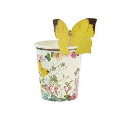 """Truly Fairy"" Butterfly Paper Cups -  Party Supplies - Talking Tables - Putti Fine Furnishings Toronto Canada - 4"
