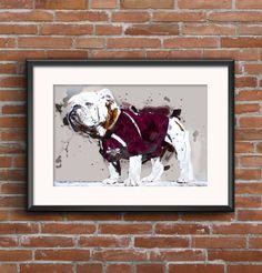 New MSU prints up on the shop!  Digital Print  MSU Bully  Mississippi by AshleyEdwardsDesigns