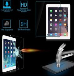 Genuine Premium Tempered Glass Film Screen Protector For Apple ipad 1/ 2 / 3