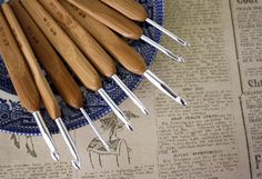 For the eco-minded crochet master: a set of bamboo-handled crochet hooks.