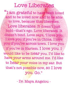 Dr. Maya Angelou - Love Liberates @ www.thecurioustrunk.com