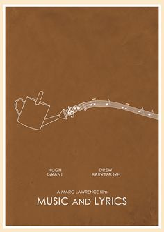 Music and Lyrics (2007) - Minimal Movie Poster by Jon Glanville #minimalmovieposters #alternativemovieposters #jonglanville