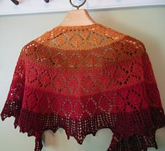Shades of Leaves Shawl by Kay Meadors