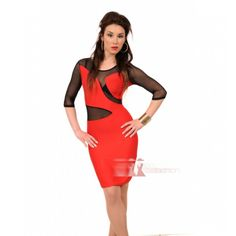 Midi κόκκινο φόρεμα με διαφάνεια http://pgfashion.gr/index.php?route=product/product&path=61&product_id=322