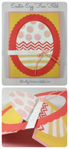 Easter Egg Fun Fold Card using the Work of Art Stamp Set to decorate the Egg! Supplies by Stampin' Up!