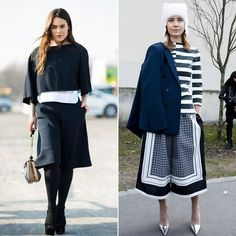 Fashion And Trends Culottes. Culottes Street Style, Bermuda Shorts, Stripes, Stylish, Pretty, How To Wear, Fashion Trends, Palazzo, Palace