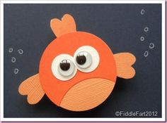 Angry Fish - uses circle and heart shape punches