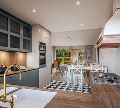 Projekt domu Murator C365j Przejrzysty - wariant X 104,5 m2 - koszt budowy - EXTRADOM My House Plans, Interior, Kitchen, Furniture, Cabin Ideas, Home Decor, House, Projects, Cooking