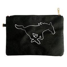 Smu Mustangs Platinum Logo Canvas Pouch Bag