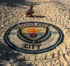 Man City logo at JA Manafar City Logo, Sand Art, Porsche Logo, Maldives, Logos, The Maldives, Logo